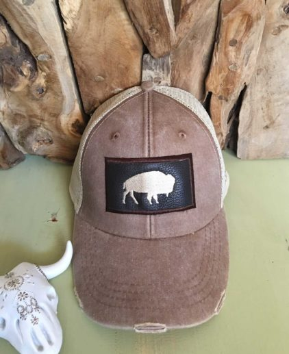 J.FORKS EMBROIDERED BUFFALO CAP, jennifer forks cap, embroidered buffalo cap, western hat, western style cap, westernchic style, vaquera cap, cowgirl baseball cap