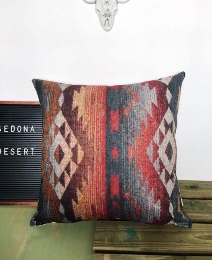 Funda de cojin con print estilo Navajo, cojín lilim, cojín estampado tribal, cojín print alfombra, cojín estilo nativo americano, cojín estilo suroeste, cojín estilo country, cojín estilo boho, cojín estilo bohemio, cojín estilo bohochic, bohochic, boho decor, decoracion boho