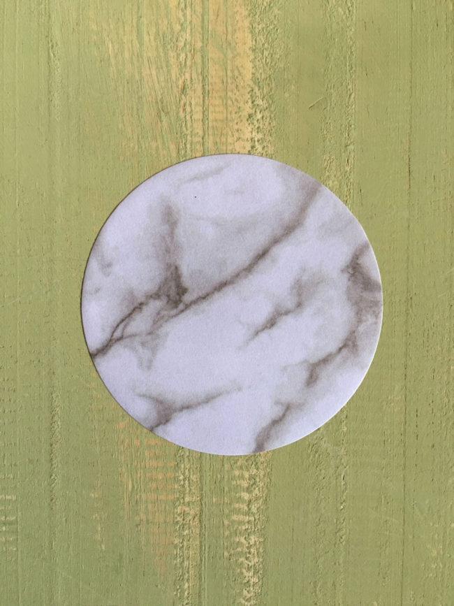 Notas adhesivas mármol, pegatinas mármol, manualidades mármol, postits mármol, notas redondas