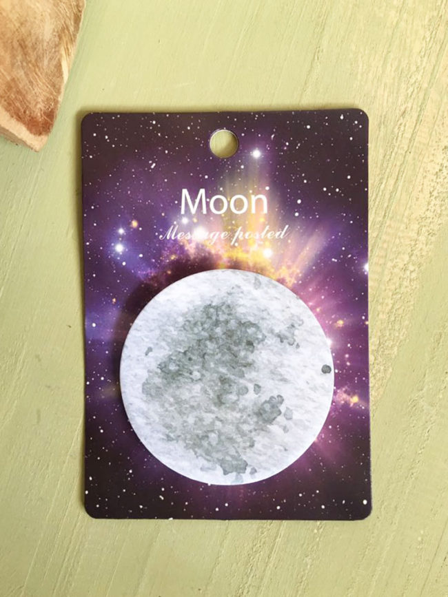Notas adhesivas luna llena, postits luna, pegatinas luna, notas adhesivas luna, potits luna llena, pegatinas redondas luna, postits espacio