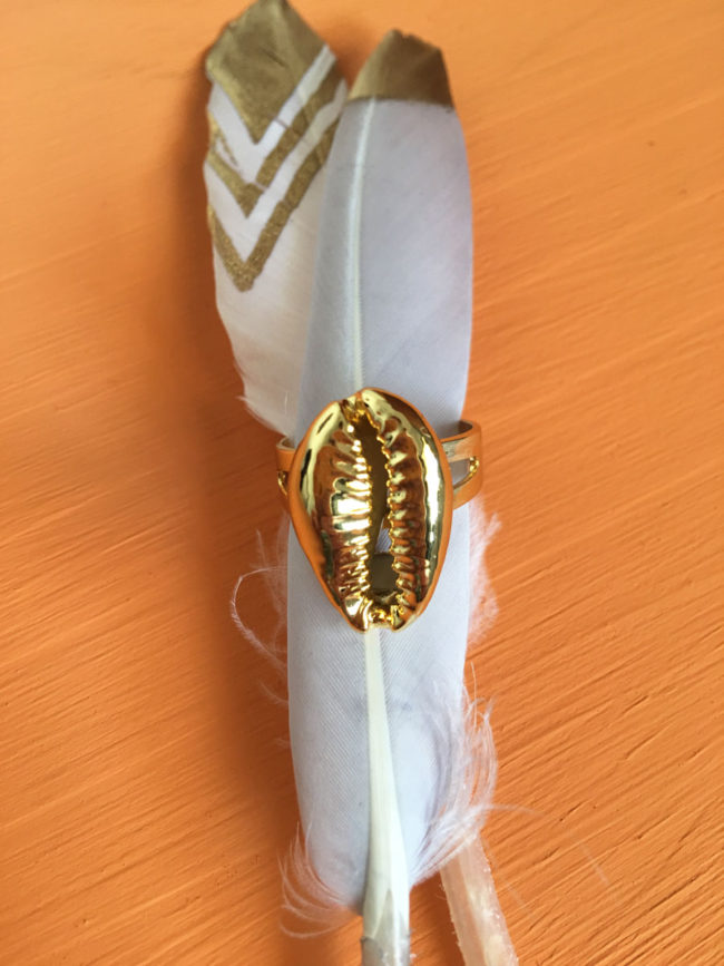 Anillo Cauri Chapado en Oro, anillo concha de cowry, anillo concha de cowrie, anillo cauri dorado, anillo cowry dorado, cowry oro