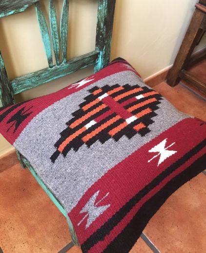 Funda de cojin Tribal Tejida a Mano Yavapai, cojin indio, cojin nativo americano, cojin motivos aztecas, cojin motivos navajos, cojin dibujo tribal, cojin tejido a mano, cojin artesanal