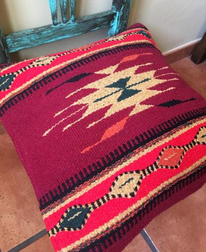 Funda de cojin Tribal Tejida a Mano Omaha, cojin indio, cojin nativo americano, cojin motivos aztecas, cojin motivos navajos, cojin dibujo tribal, cojin tejido a mano, cojin artesanal