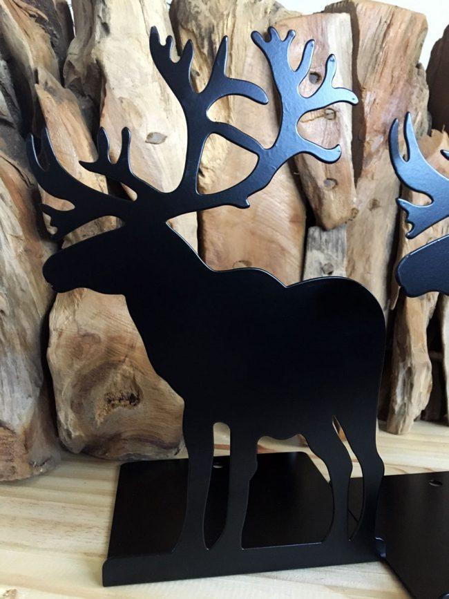 Sujetalibros de Alces, decoración ciervos, decoración renos, decoración cuernos, sujetalibros bonitos, decoración hipster, decoración montaña, decoración animales, decoración western, decoración country, decoración americana