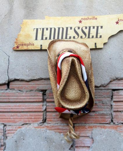 Colgador Tennessee, colgador de madera de abedul estado de tennessee, colgador country, música country, nashville