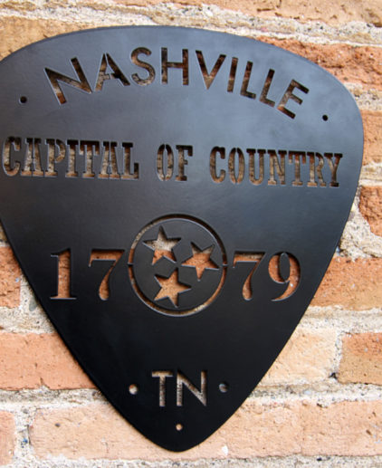 Señal de Metal Pua Nashville, señal music country, country music nashville tennessee, decoración pared usa, decoración americana