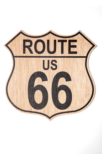 Señal de Madera Ruta 66, ruta americana decoración country