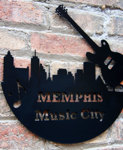 Señal de Metal Memphis Music city, artículos de memphis, music country nashville, elvis presley decoracion, decoracion americana tennessee, decoracion guitarra música country