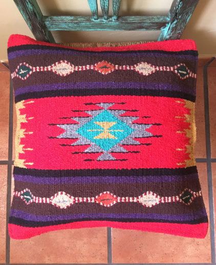 Funda de cojin Tribal Tejida a Mano Goodyear, funda de cojín bohochic, funda del suroeste americano, tejido tribal indio americano, decoración western, funda de cojin country, funda de cojin boho, estilo country, funda de cojin etnica roja