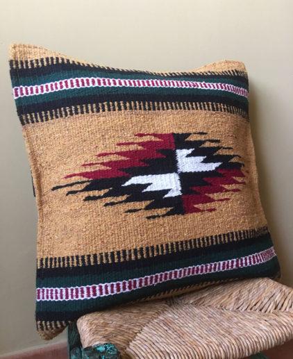 Funda de cojin Tribal Tejida a Mano Oro Valley, funda de cojín bohochic, funda del suroeste americano, tejido tribal indio americano, decoración western, funda de cojin country, funda de cojin boho, estilo country, funda de cojin etnica roja