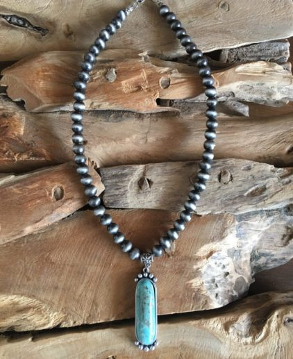 Collar Turquesa Silent Trail, Collar nativo americanos, Collar bohochic, Collar country, Collar western, Collar del oeste, perlas navajo, collar perlas navajo, collar navajo pearls