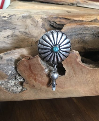 Anillo Squash Blossom, típico nativo americano, anillos originales, anillo alargado de turquesa, anillo bohochic, anillo bohemio, anillo azul, anillo nativo americano, anillo western, anillo country, joyas country, estilo western