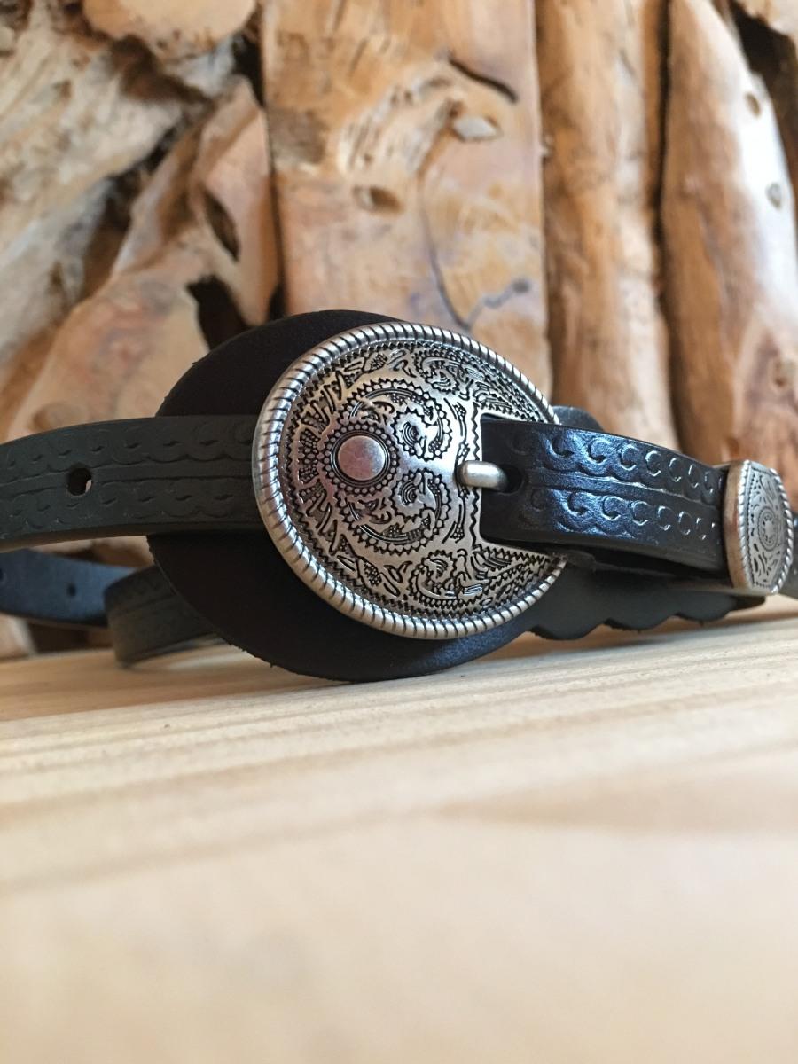 Cinturón de Cuero Negro Honky Tonk