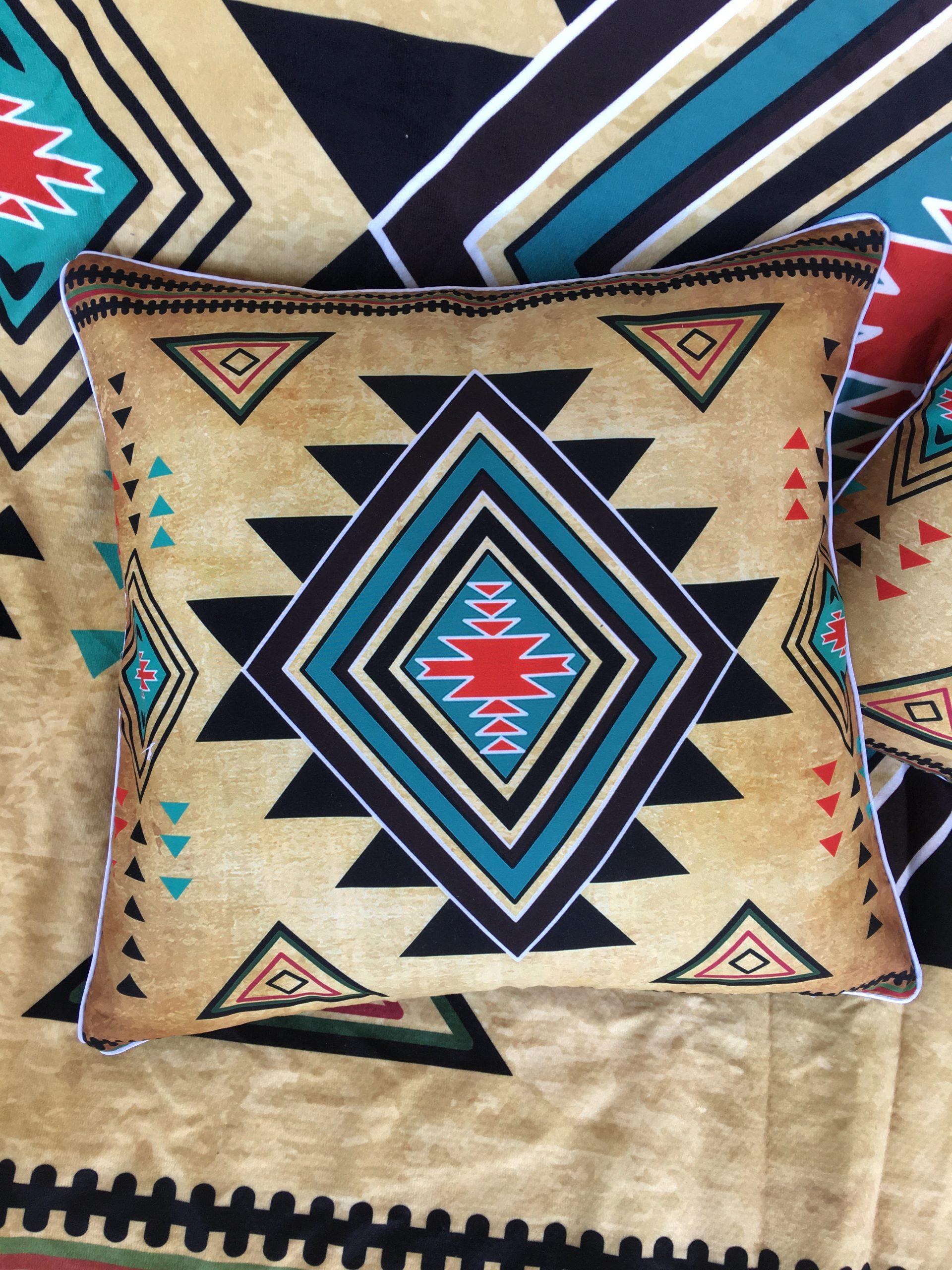Funda de Cojín Tribal Coyote