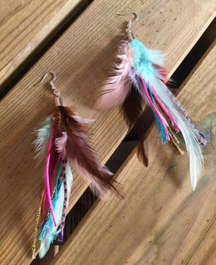 Pendientes de plumas Walla Walla