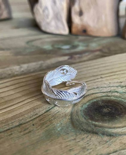 Anillo de pluma plata Enchanted Feathers
